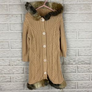 The Childrens Place Cableknit Duster Cardigan